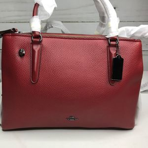 Coach Brooklyn 34 in Pebble Leather NWT